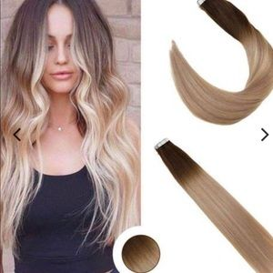 Ugeat 100 percent human hair extensions tape in
